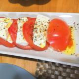 ヘルシー♪豆腐とトマトのカプレーゼ