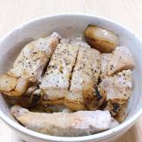 豚ランプステーキ用肉を使った豚ステーキ丼