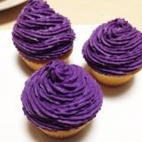 絶品!!紫いもクリームのカップケーキ