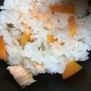 鮭と人参の炊き込みご飯