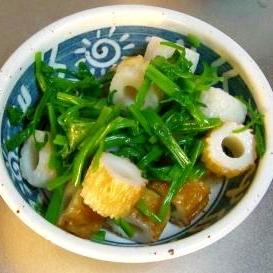 和食の一品、せりと竹輪の和えもの