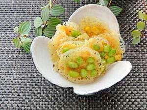 枝豆&コーン♪焼きチーズのおつまみ