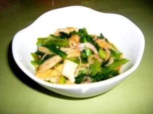 サクラエビ入り小松菜の煮浸し