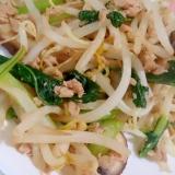 小松菜ともやしとツナの中華炒め