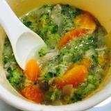 離乳食に!まぐろと野菜の和風スープ