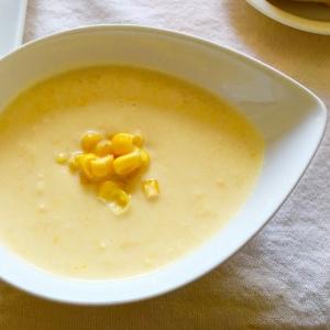 ホールコーンと牛乳で♪簡単即席コーンスープ♡