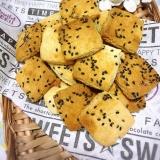 簡単ヘルシー☆HMで♡黒ごまと豆乳クッキー♡