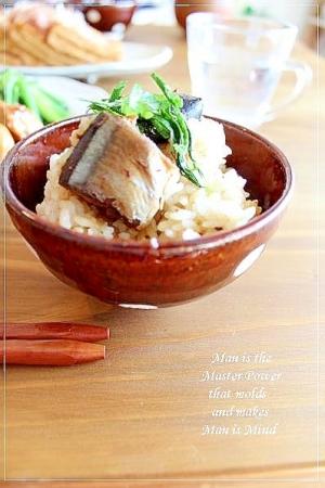 缶詰で簡単♪秋刀魚ごはん