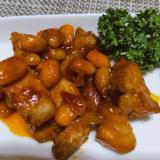 時短♡豚バラ肉で作る お豆たっぷりポークチョップ