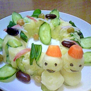 クリスマスに☆リースポテトサラダ☆彡