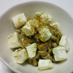 クリームチーズ入りの納豆