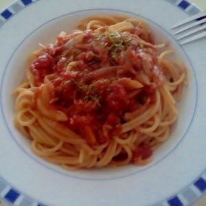 ツナトマトスパゲッティー++