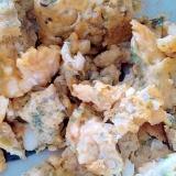 アオサ入りレンジで炒り卵
