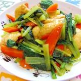 簡単!すぐ作れます!小松菜とお揚げのぽん酢炒め