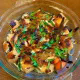 鮭と厚揚げの味噌マヨ焼き