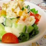 ゆでたまごの彩りサラダ