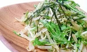 めちゃウマッ☆水菜ともやしのゴマごまサラダ