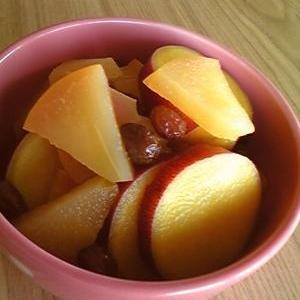 リンゴとサツマイモの重ね煮☆シリコンスチーマーで