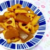 レンコンと蒟蒻の塩麹きんぴら++