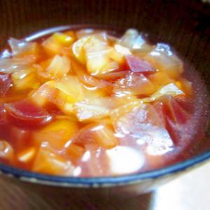 ビーツと豆のスープ