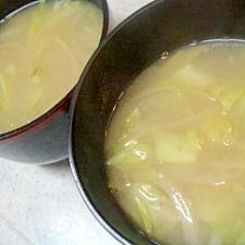 炒め野菜の味噌汁