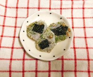 【離乳食後期〜】すりおろしレンコンと海苔のおやき