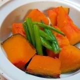 ✿かぼちゃといんげんの簡単な煮物❤