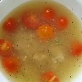 豚ひき肉とミニトマトのスープ(^^)