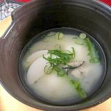 牡蠣の白味噌雑煮