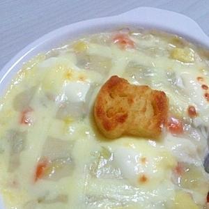 余ったシチューで☆2種のチーズドリア