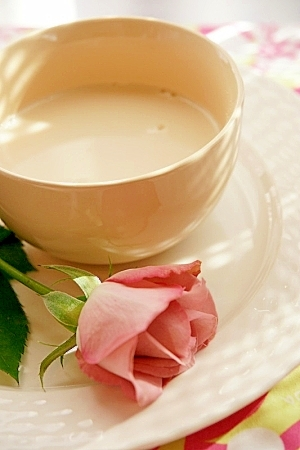 ピーナッツバターきな粉豆乳