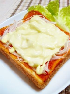 春の美味♪新たまトースト