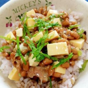 納豆の食べ方-香味チーズ♪
