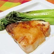 塩麹で✿ぶりの味噌炒めチンゲン菜添え
