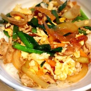 豚肉と余り野菜で☆あんかけ中華丼