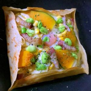 野菜たっぷりの蕎麦クリームグラタンガレット