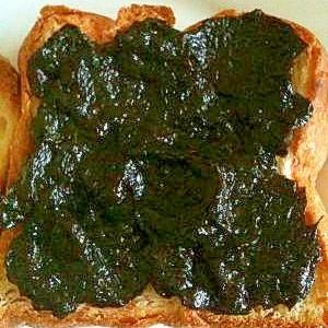 トースト+海苔の佃煮+マーガリン☆パンなのに和食?