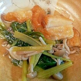 小松菜としめじと揚げはんぺんの煮もの♪