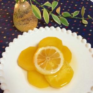 さつま芋の甘酸っぱいハニーレモン煮