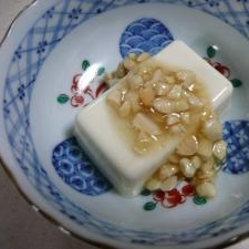 ヘルシーデザート♪はちみつピーナツの豆腐スイーツ☆