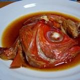 金目鯛のあら炊き(圧力鍋で4分)