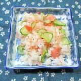 鮭ときゅうりの混ぜご飯