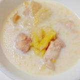 鶏ももと白菜のミルクスープ