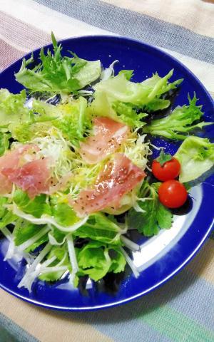 ホワイトセロリと生ハムのサラダ