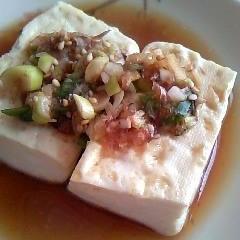 和風だれの焼き豆腐