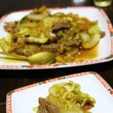キャベツと牛肉の炒めもの
