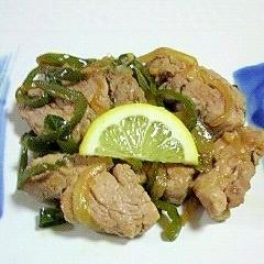 豚ヒレ肉と玉葱の炒め物~♫