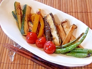 簡単ヘルシー!夏野菜の焼きびたし☆