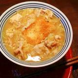 白菜と豆腐のとろとろ*揚餅いり