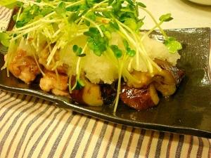 これは簡単☆鶏と茄子のさっぱりおろしポン酢